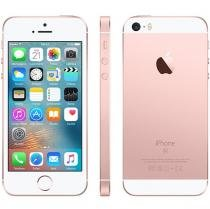 "iPhone SE Apple 64GB Ouro Rosa 4G Tela 4"" Retina - Câm. 12MP iOS 10 Proc. Chip A9 Touch ID"