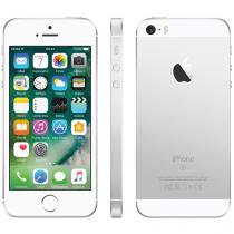"iPhone SE Apple 64GB Prateado 4G Tela 4"" Retina - Câm. 12MP iOS 10 Proc. Chip A9 Touch ID"
