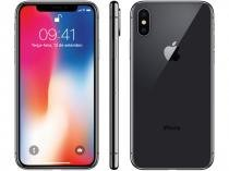 "iPhone X Apple 256GB Cinza Espacial 4G Tela 5,8""  - Retina Câm 12MP + Selfie 7MP iOS 11 Proc. Chip A11"