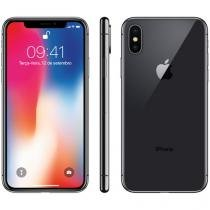 "iPhone X Apple 64GB Cinza Espacial 4G Tela 5,8"" - Retina Câm 12MP + Selfie 7MP iOS 11 Proc. Chip A11"