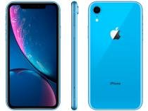 "iPhone XR Apple 64GB Azul 4G Tela 6,1"" Retina - Câmera 12MP + Selfie 7MP iOS 12 A12 Bionic Chip"