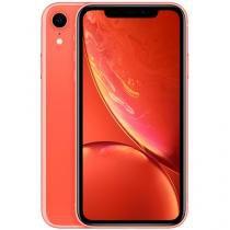 "iPhone XR Apple 64GB Coral 4G Tela 6,1"" Retina - Câm. 12MP + Selfie 7MP iOS 12 Proc. Chip A12"