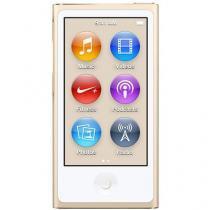 iPod Nano 16GB Dourado Tela 2,5 Apple - Multi Touch, Rádio FM e Bluetooth
