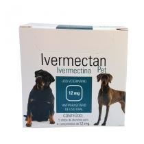 Ivermectan Pet 12mg 20 comp UCBVet Sarna Cães - Descrição marketplace -