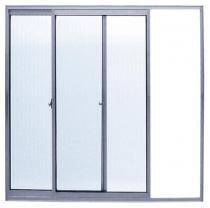 Janela Alumínio 2 Folhas Vidro Liso 120 x 120 cm Sba - Comprenet