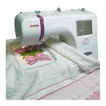 Janome mc350e máquina de bordar área de 20cm x 14cm 100 desenhos - Janome