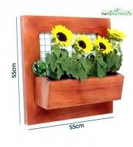 Jardim Vertical e Jardim suspenso com tela e 1 vaso de plantio direto - Hortanavertical