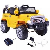 Jipe Trilha Infantil com Controle Remoto Amarelo 12v - BelFix -