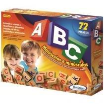 Jogo abc maiusculas e minusculas com 72 pecas xalingo 5266.5 - Xalingo