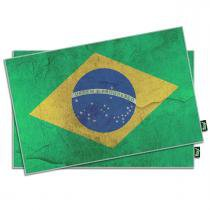 Jogo Americano Bandeira do Brasil - 2 peças - YAAY