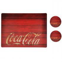 Jogo Americano Coca-Cola Wood - YAAY