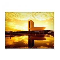 Jogo americano decorativo, criativo e descolado - Brasília amarela - tamanho 30 x 40 cm - COLOURS  Creative Photo Decor