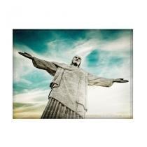 Jogo americano decorativo, criativo e descolado  Cristo Redentor no Rio de Janeiro, RJ - tamanho 30 x 40 cm - COLOURS  Creative Photo Decor