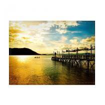 Jogo americano decorativo, criativo e descolado  Pier em Florianópolis, SC - tamanho 30 x 40 cm - COLOURS  Creative Photo Decor