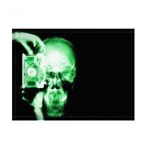 Jogo americano decorativo, criativo e descolado  Raio-x de caveira fotógrafo - tamanho 30 x 40 cm - COLOURS  Creative Photo Decor