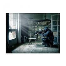 Jogo americano decorativo, criativo e descolado  Sniper - tamanho 30 x 40 cm - COLOURS  Creative Photo Decor