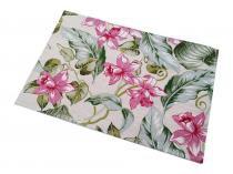 Jogo Americano Floral 46x32cm em Jacquard - Linha Orquídea - 1 Peça - Dom gato