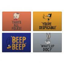 Jogo Americano Looney Tunes Frases - set com 4 unidades - YAAY