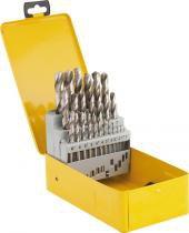 Jogo broca aço rápido 1,0-13,0mm haste paralela din 338 uso geral caixa metálica com 25 peças - Vonder - Vonder