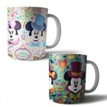 Jogo com 2 Canecas Porcelana Mickey Minnie Disney 350ml (BD01) - BD Net Imports