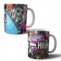 Jogo com 2 Canecas Porcelana Monster High 350ml (BD01) - BD Net Imports