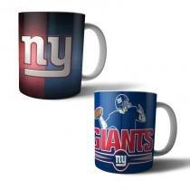 Jogo com 2 Canecas Porcelana NY Giants 350ml (BD01) - Bd net imports