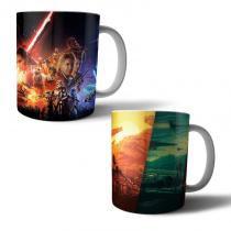 Jogo com 2 Canecas Porcelana Star Wars 350ml (BD01) - BD Net Imports