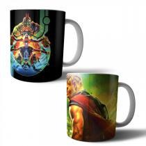 Jogo com 2 Canecas Porcelana Thor Ragnarok 350ml (BD01) - BD Net Imports