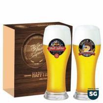 Jogo Copos Cerveja Brasserie Decorado 590ml 2 Peças Ruvolo - Ruvolo