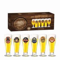 Jogo Copos Cerveja Roma Decorado 300ml 6 Peças Ruvolo - Ruvolo