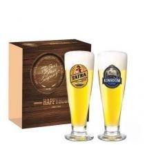 Jogo Copos Cerveja Tulipa Roma Decorado 300ml 2 Peças Ruvolo - Ruvolo