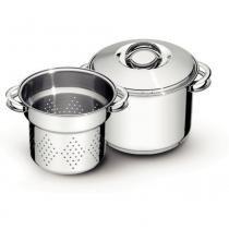 Jogo cozi-pasta aço inox 20 cm 2 peças - SOLAR - Tramontina -