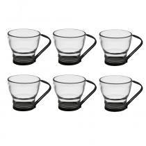 Jogo de 6 Xícaras de Chá Bon Gourmet Porcelana 225ml - 26306 -