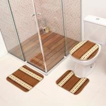 Jogo de Banheiro Onix 3 Peças 100 Polipropileno Havan - Havan
