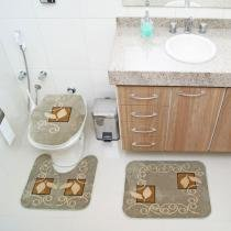 Jogo de Banheiro Royal Luxury RLN 102 2 Verde - Verde - Rayza Tapetes