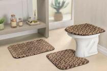 Jogo de Banheiro Safari Standard 03 Peças - Girafa - Guga Tapetes