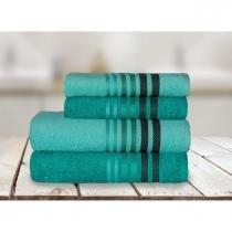 Jogo de banho dynamo 4 peças verde/verde claro - camesa - Camesa