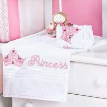 Jogo de Banho Solteiro Kids Princess 02 peças - Batistela Baby - Batistela