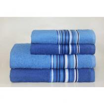 Jogo de Banho Vegas  Netuno 4 peças Camesa - 4 Peças - Azul Claro e Azul Escuro - Camesa