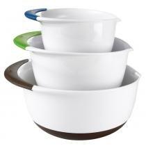 Jogo de bowls oxo branco 3 peças -