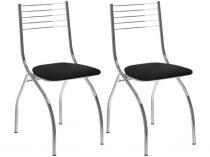 Jogo de Cadeiras para Sala de Jantar Estofado - Carraro 0146 2 Peças