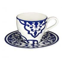 Jogo de café 12 peças porcelana turkish delight - lhermitage -