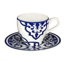 Jogo de café 12 peças porcelana turkish delight - lhermitage - Unica - Lhermitage