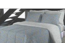 Jogo de cama casal don microfibra 170 fios - 3 peças - Fassini têxtil