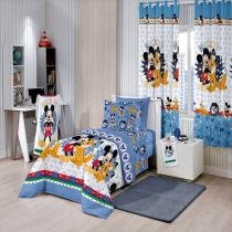 Jogo de Cama Disney Mickey Happy 3 Peças 140x225m - Santista - Santista