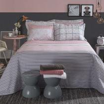 Jogo De Cama Duplo King Home Design Mya Rosa Santista -
