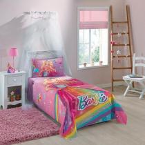 Jogo de Cama Infantil - Barbie Reino do Arco Íris - Misto - 2 Peças - Lepper - Lepper