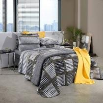 Jogo de cama king 150 fios 100 algodão prata - santista -