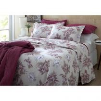 Jogo de Cama/Lençol King Size 200 Fios Percal - Corttex Home Design 11731-3976 4 Peças