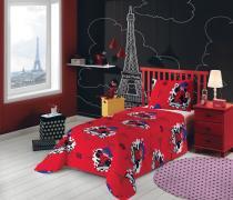 Jogo de cama Miraculous: As Aventuras de Ladybug  2 Peças 059104  Lepper - Lepper
